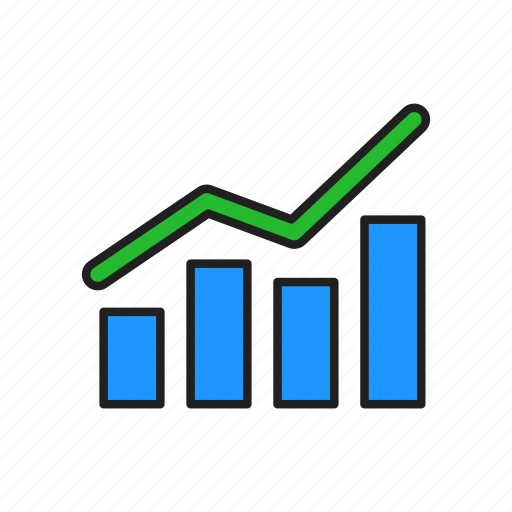Bar graph, chart, line graph, growth icon - Download on Iconfinder
