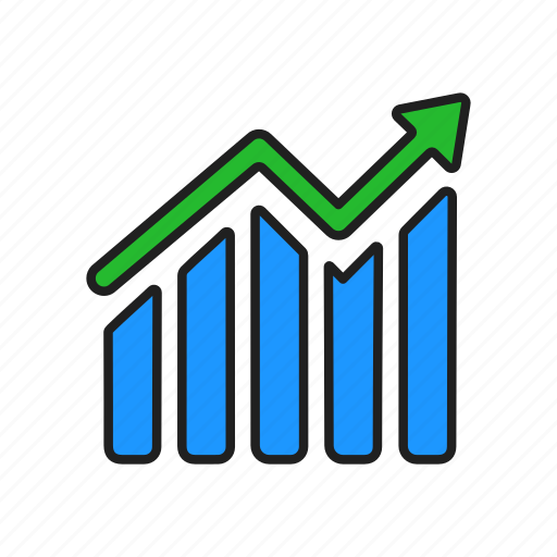 Graph, chart, bar graph, diagram icon