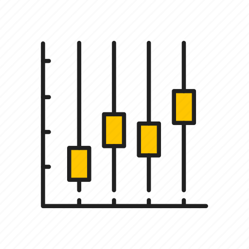 analytics, bar, bar graph, chart, line graph icon