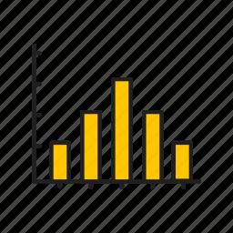 bar graph, graph, line chart, report icon