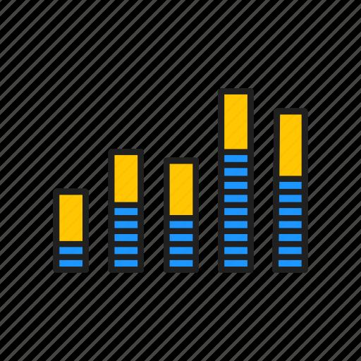 bar graph, chart, graph, report icon
