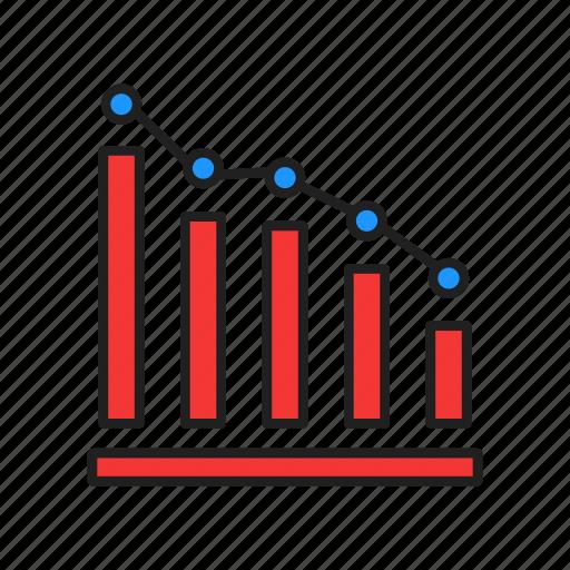 bar graph, chart, graph, line chart icon
