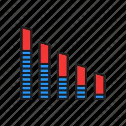 bar chart, chart, graph, report icon