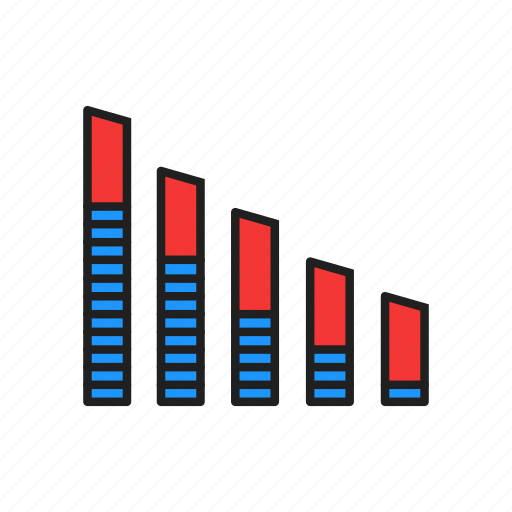 bar chart, chart, graph, report icon