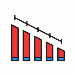 bar chart, chart, line graph, report icon