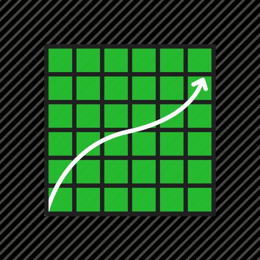 arrow, bar graph, graph, line graph icon