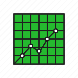 chart, graph, growth, line graph icon