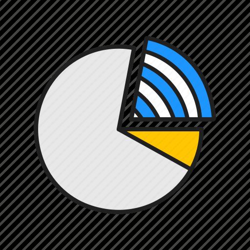 chart, circle graph, graph, pie chart icon