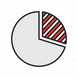 chart, graph, pie graph, report icon