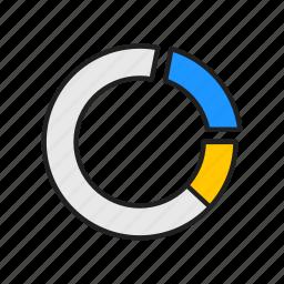analytics, chart, graph, pie graph icon
