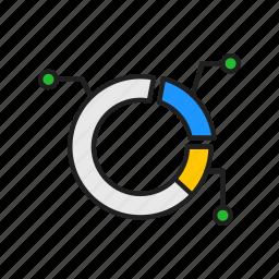 annotated chart, circle graph, graph, pie graph icon