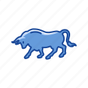 animal, bull, bull marketing, stock marketing icon