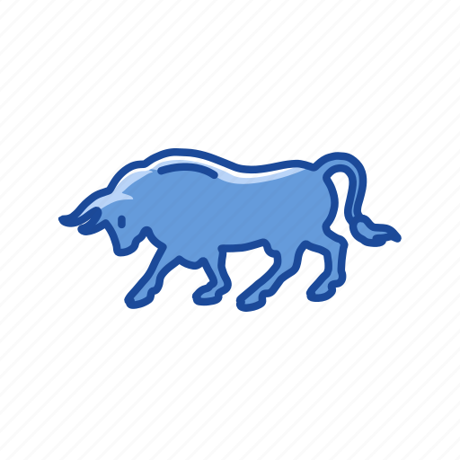 Animal, bull, bull marketing, stock marketing icon - Download on Iconfinder