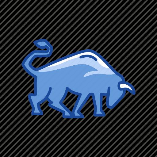 animal, bull, bull market, stock marketing icon