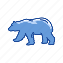 animal, bear, bear market, stock marketing icon