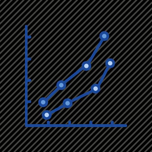 chart, dot plot marketing, graph, marketing icon