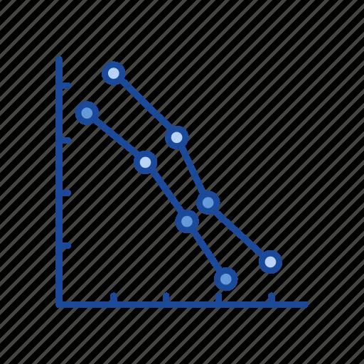 chart, data, dot plot graph, marketing icon