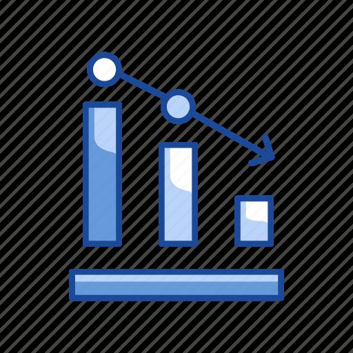 bar graph, chart, data analysis, graph, stock marketing icon