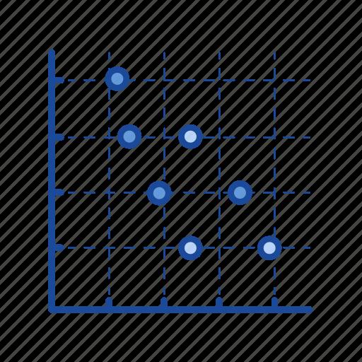 chart, data analysis, marketing, scatter plot graph icon