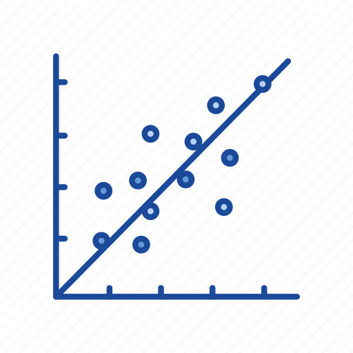 chart, data, scatter plot graph, stock marketing icon