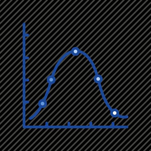 chart, dot plot graph, graph, marketing icon
