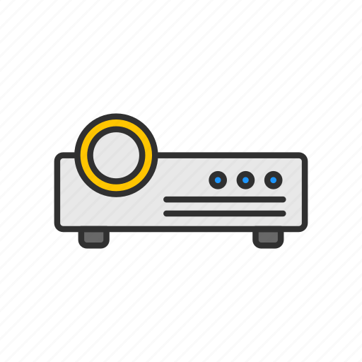 digital projector, image projector, speaker, video icon