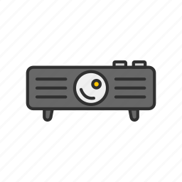 digital projector, projector, speaker, video icon