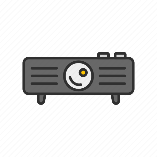 digital projector, projector, speaker, video icon
