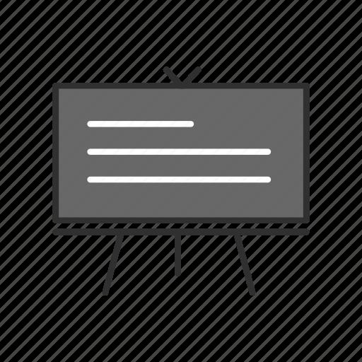 board, lecture, screen, stand icon