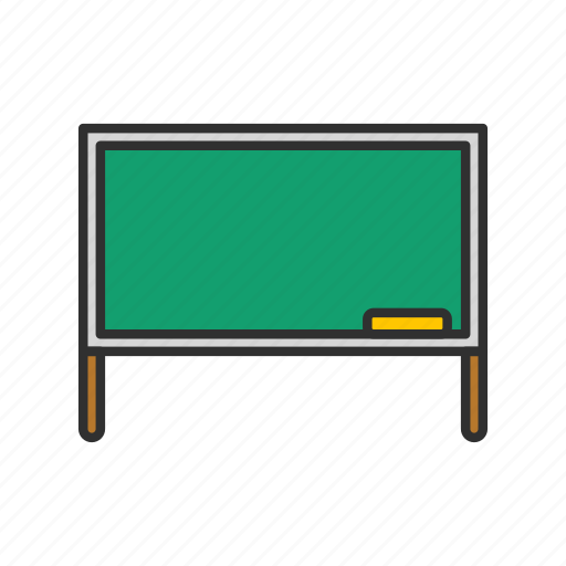 board, chalk board, screen, stand icon