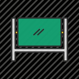 chalk board, screen, stand, white board icon