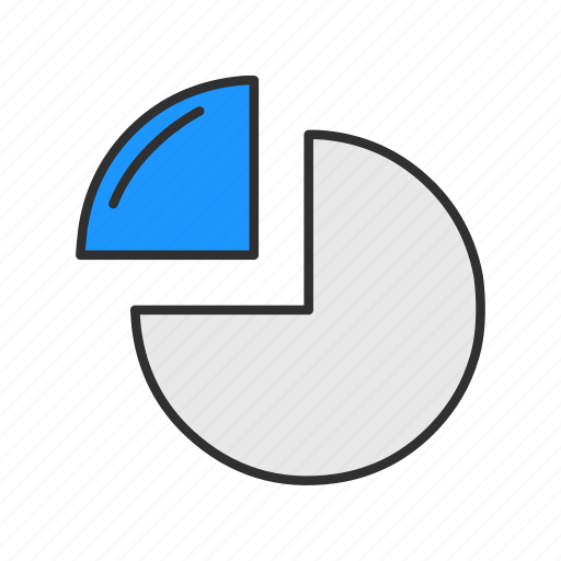 chart, circle graph, pie chart, statistic icon