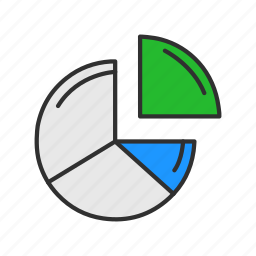 chart, graph, pie chart, statistic icon