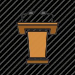 conference, podium, pulpit, speech icon
