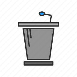 conference, platform, podium, pulpit icon