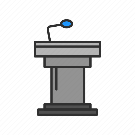 conference, platform, podium, speech icon