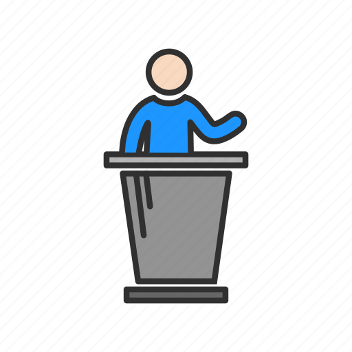 audience, conference, pulpit, speech icon