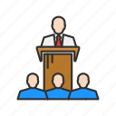 audience, conference, speech, presentation