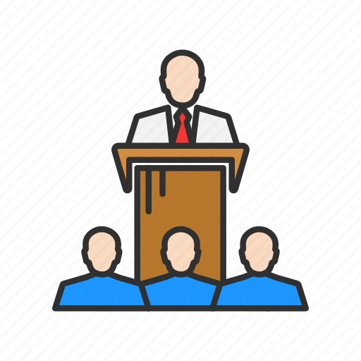 audience, conference, presentation, speech icon