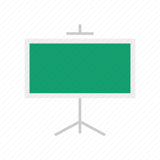 board, chalk board, lecture, stand icon