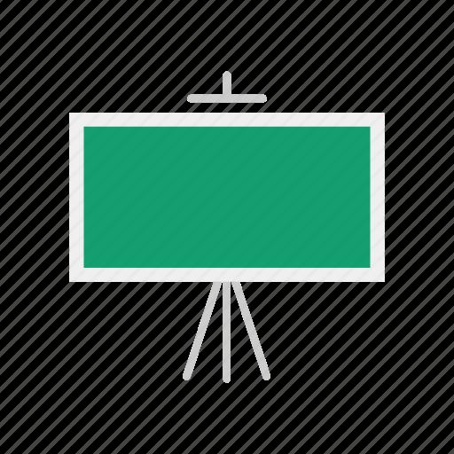 board, chalk board, lecture, stand icon