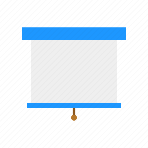 projector, roll up screen, screen, white board icon