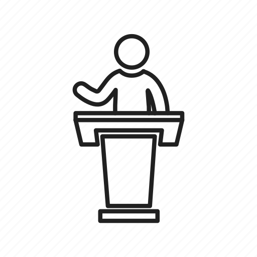avatar, lectern, presentation, professor, pulpit, speech, teacher icon