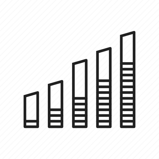 bar chart, bar graph, growth, increase, mixed chart, stacked bar graph, trending up icon