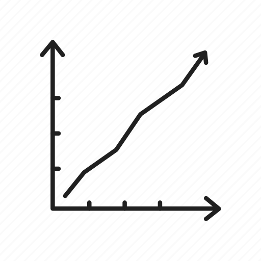 gain, graph, increase, line graph, steep growth, trending up, up trend icon