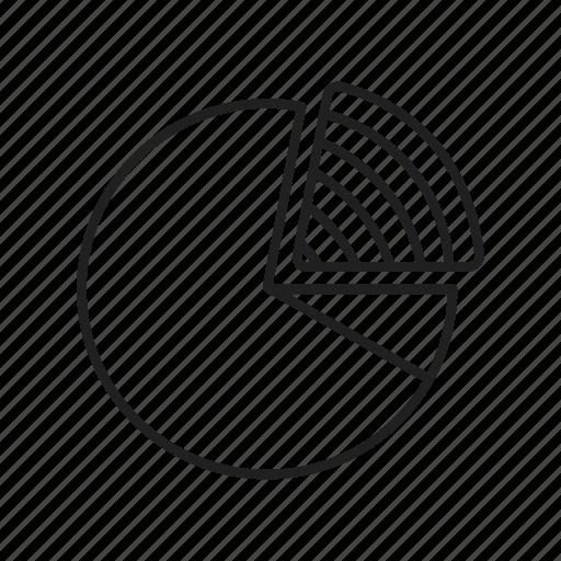 circle chart, circle graph, data, dougnut graph, graph, pie chart, pie graph icon