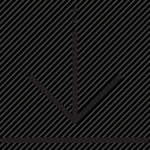 align, alignment, arrow, bottom, direction icon