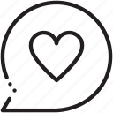 comment, fevorite, heart, like, love, message, valentine icon