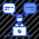 communication, powerpoint, presentation, speaking icon