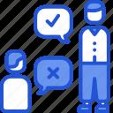 communication, debate, disagree, presentation icon